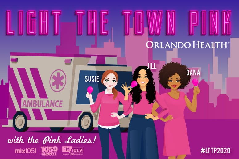 Light the town pink flyer
