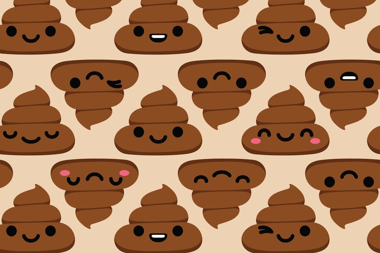 poop emoji pattern