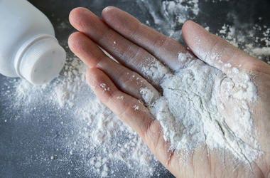 Baby Powder In Hand