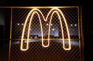 mcdonalds neon golden arches