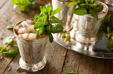 a Mint Julep cocktail