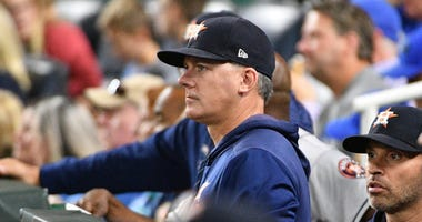 Astros manager A.J. Hinch