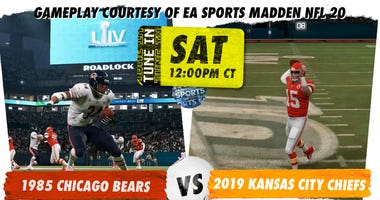 Radio.com Sports will present a Super Bowl simulation between the 1985 Bears and 2019 Chiefs on EA Madden 20.