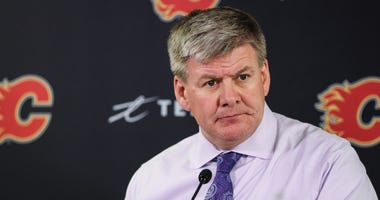 Current Flames and former IceHogs coach Bill Peters