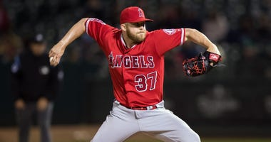 Cody Allen with the Angels in 2019