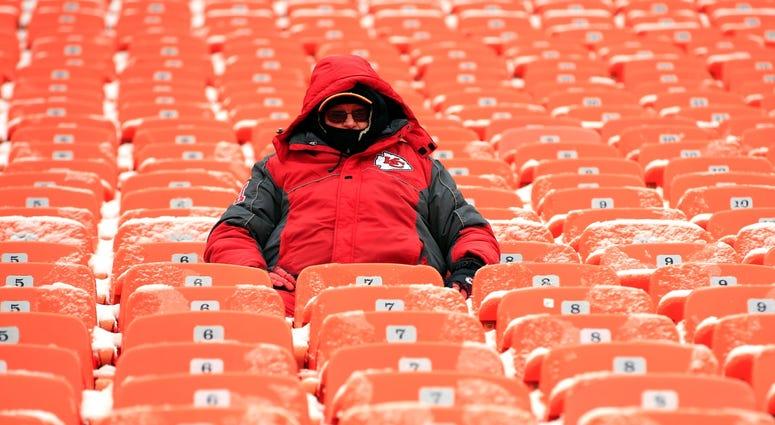 Chiefs fan at Arrowhead Stadium