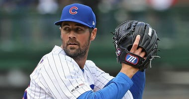 Cubs left-hander Cole Hamels
