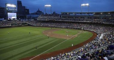 College World Series in Omaha, Nebraska in 2017