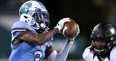Tulane receiver Darnell Mooney, left