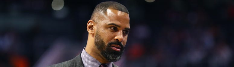 Ime Udoka with the Spurs in 2018