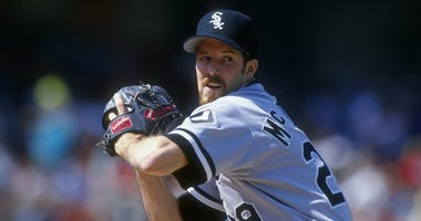 Jack McDowell pitches for the White Sox in 1993.