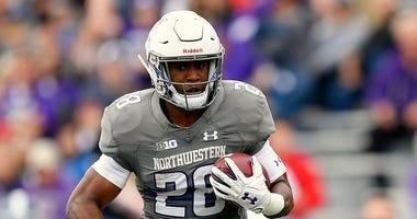 Northwestern running back Jeremy Larkin