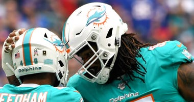 Defensive lineman John Jenkins (95) with the Dolphins in 2019