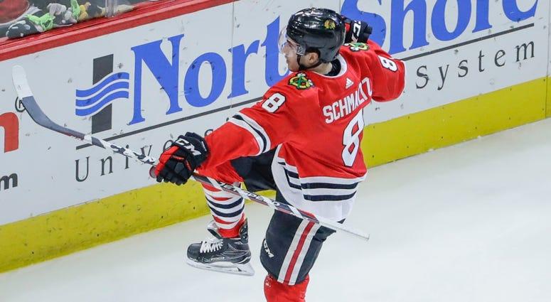 Blackhawks forward Nick Schmaltz