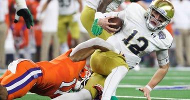 Notre Dame quarterback Ian Book (12)