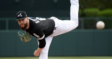 Dallas Keuchel pitches for the White Sox in spring training
