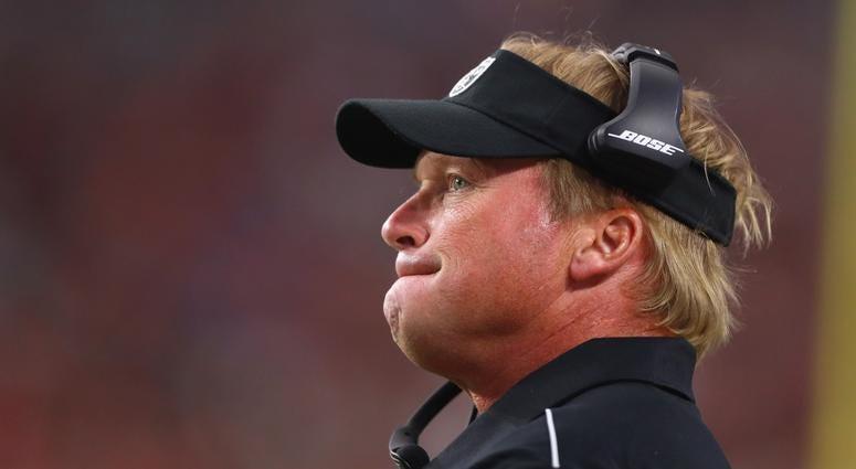 Raiders coach Jon Gruden
