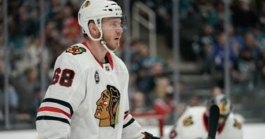 Blackhawks defenseman Slater Koekkoek