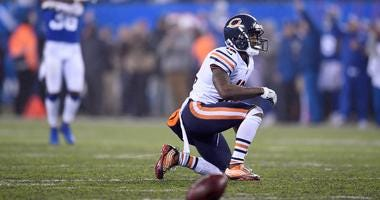 Bears receiver Taylor Gabriel reacts after an incompletion sealed his team's loss.