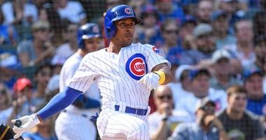 Tony Kemp with the Cubs in 2019