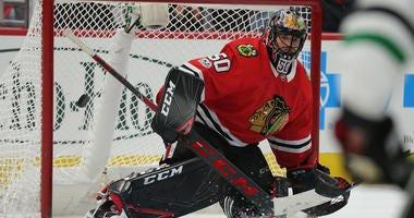 Blackhawks goaltender Corey Crawford