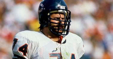 Bears offensive tackle Jimbo Covert in 1988