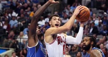 Bulls guard Zach LaVine (8)