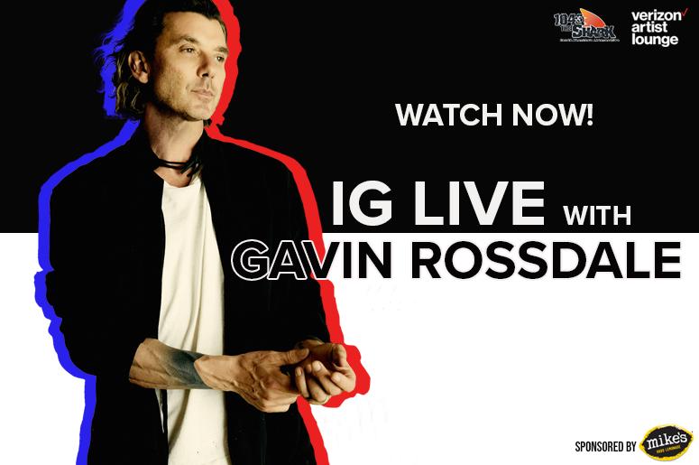 Gavin Rossdale IG Live Watch Now
