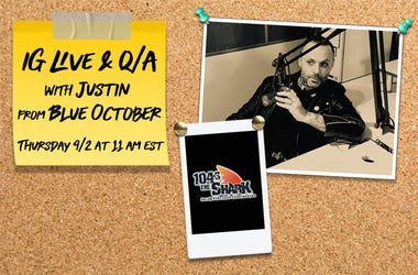 IG LIVE with Justin from Blue October