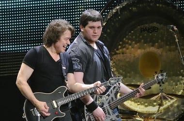 Guitarist Eddie Van Halen and his son/bassist Wolfgang Van Halen