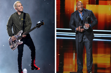 """Fall Out Boy's Pete Wentz and Dwayne """"The Rock"""" Johnson"""