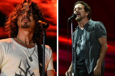 Eddie Vedder and Chris Cornell performance collage