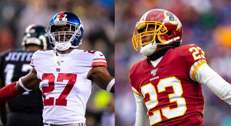 NFL backs DeAndre Baker and Quinton Dunbar
