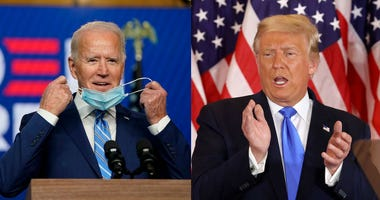 Joe Biden and President Donald Trump speak post election