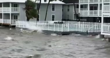 Flooding in Cedar Key from Michael storm surge