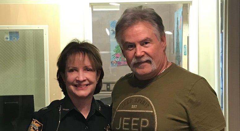 Alachua County Sheriff Sadie Darnell with Bob Rose