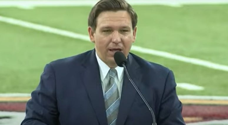 Florida's governor Ron DeSantis says Florida State University and other schools should play football this fall. He spoke just hours before the Big Ten and Pac-12 pulled the plug on their seasons because of coronavirus.