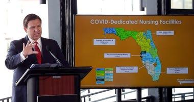 Florida coronavirus reporting and Gov. Ron DeSantis