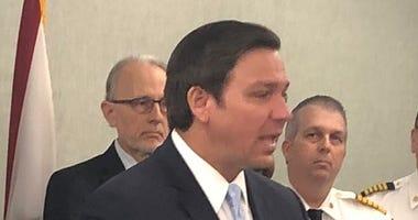 Florida Governor Ron DeSantis updates on latest coronavirus efforts on March 2, 2020.