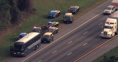 Florida Highway Patrol makes arrest on bus near Micanopy 1-16-20