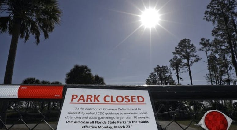 Florida parks ordered closed