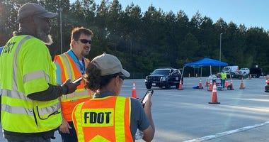 FDOT and FHP checkpoint on I-10 near Alabama border