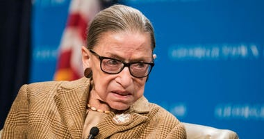 U.S. Supreme Court Justice Ruth Bader Ginsburg participates in a discussion at the Georgetown University Law Center on February 10, 2020 in Washington, DC.