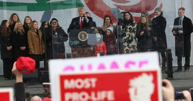 President Donald Trump speaks at the 47th March For Life rally January 24, 2019. The annual March For Life rally and march to the U.S. Supreme Court protesting the high court's court's 1973 Roe V. Wade decision making abortion legal.