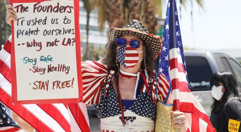 Los Angeles protester
