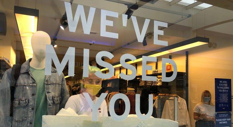 Retail stores begin reopening after coronavirus shutdowns.