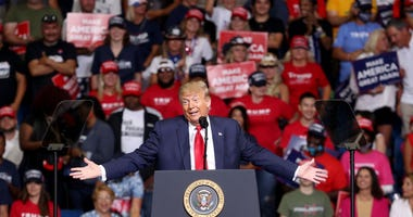 U.S. President Donald Trump speaks at a campaign rally at the BOK Center, June 20, 2020 in Tulsa, Oklahoma. Trump is holding his first political rally since the start of the coronavirus pandemic at the BOK Center