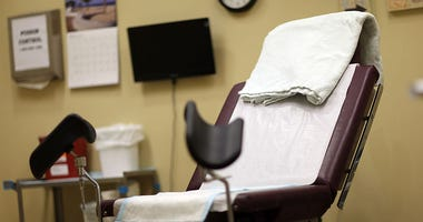 An examination room is seen at a women's reproductive health center that provides abortions in South Florida.