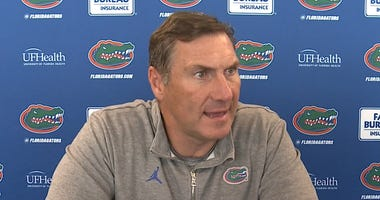 UF Football Coach Dan Mullen addresses the media in his weekly press conference October 14, 2020.