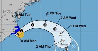 Tropical Storm Arthur 8am 05182020